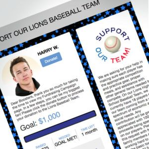 Sports Individual personalized fundraising