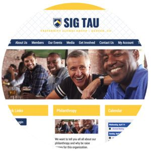 Sorority and Fraternity website design