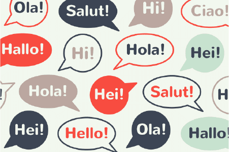 """Ways for your PTA to greet and welcome parents and families. Picture with """"Hello"""" written in several languages."""