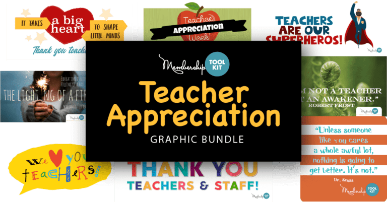 Teacher Appreciation Graphics you can Download - from Membership Toolkit