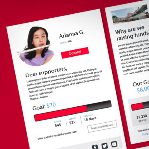 Fundraising Personalized Peer-to-Peer