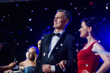 Fundraising ideas from Membership Toolkit for your parent organization. Image of 2 adults dressed up at a gala.