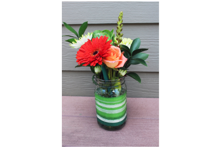 """Volunteer Appreciation Puns from Membership Toolkit. Picture of Mason jar filled with flowers for pun, """"Thank you for being Uh-MASON!"""""""