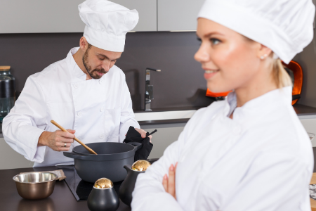 Membership Toolkit fundraising idea. Image of 2 chefs in a kitchen.